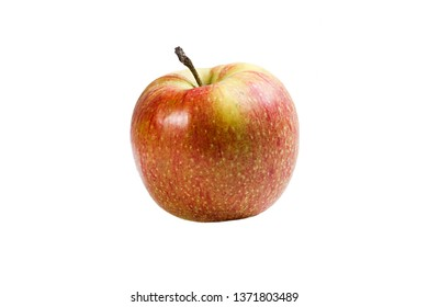 Ripe apple fruit on white isolated background
