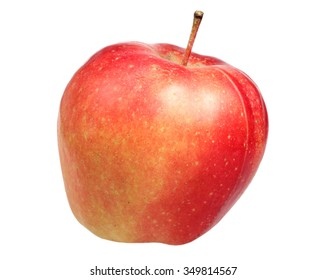 Ripe apple is isolated on a white background