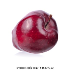 A ripe apple isolated on white background.