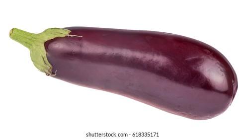 ripe aubergine isolated on white background