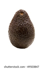 ripe avacado vegetable on a white background