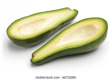 Ripe avocado. Isolated on white background.