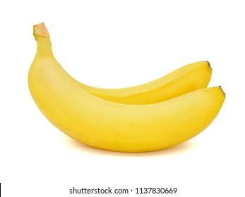 Ripe banana isolated on white background.