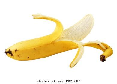 Ripe banana isolated on white