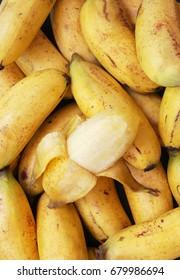 Ripe bananas background