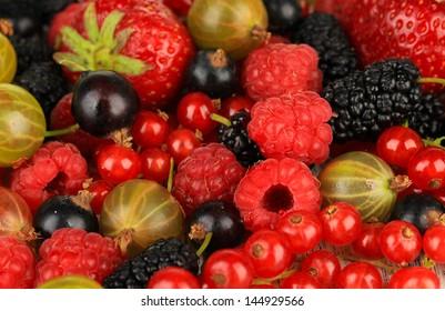 Ripe berries close-up
