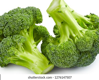 Ripe broccoli isolated on white background