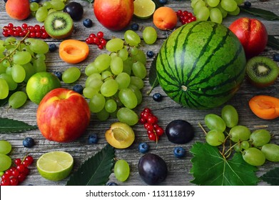 ripe colorful summer fruits