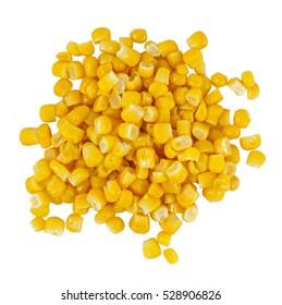 Ripe corn isolated on white background