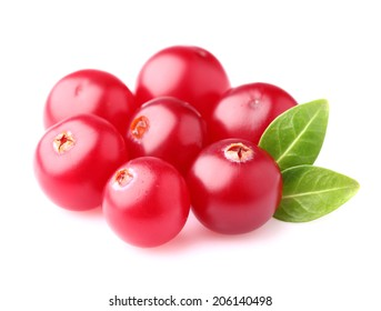 Ripe cranberries in closeup