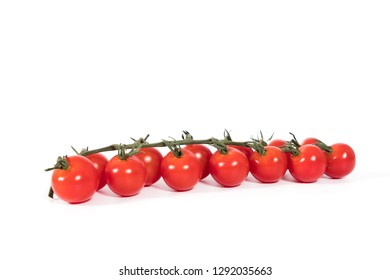 Ripe delicious tomatoes on white background