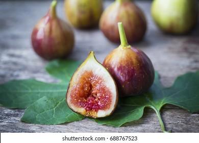 Ripe Fig Fruits