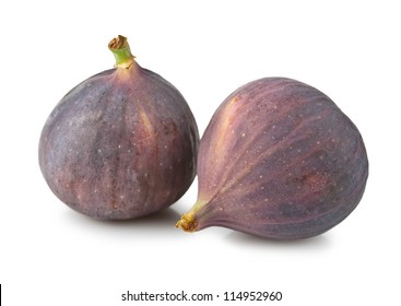 Ripe figs isolated on white background