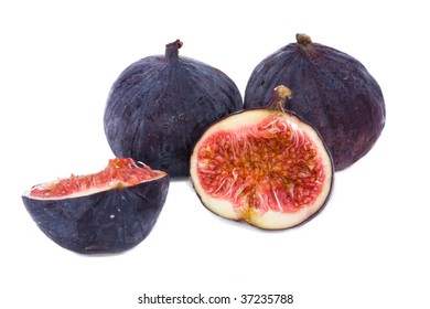 ripe figs isolated on a white background