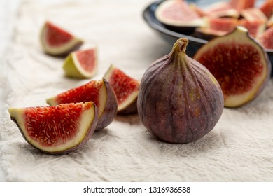 Ripe figs sliced and whole