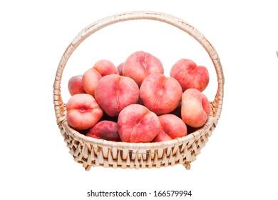 ripe flat peaches