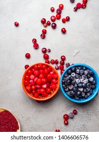 ripe forest berries - cranberries blueberries viburnum, antioxidant, vitamin rich food, resveratrol, astaxanthin