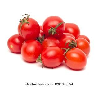 Ripe Fresh Cherry Tomatoes isolated