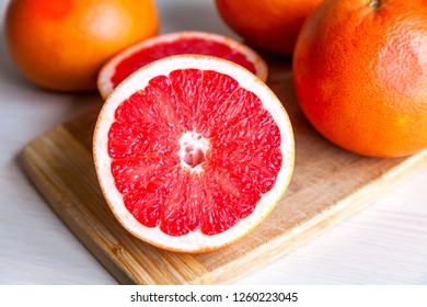 Ripe fresh grapefruits on a table