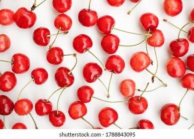 ripe fresh red berries cherries