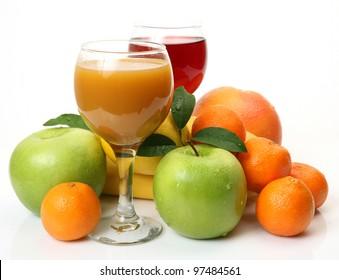 Ripe fruit and juice
