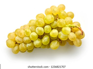 ripe green grape isolated on white background