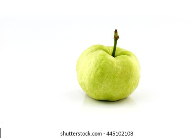 Ripe guava fruit from Thailand, isolated on white background.