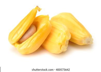 Ripe Jackfruit isolated on white background.