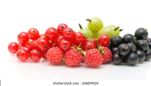 ripe juicy ripe berries on a white background close-up