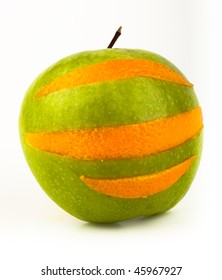 Ripe juicy fruit on a white background. Cut Out