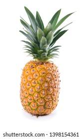 Ripe juicy pineapple isolated on white background