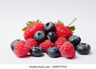 ripe juicy tasty berries on a white background