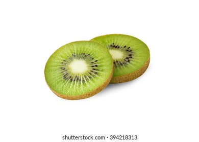 Ripe kiwi fruit isolated on white background
