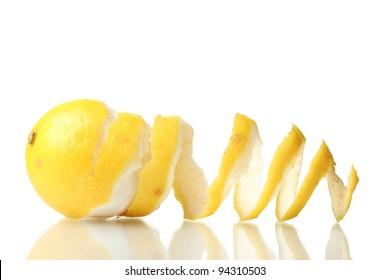 ripe lemon isolated on white