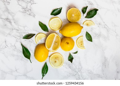 Ripe lemon on white background