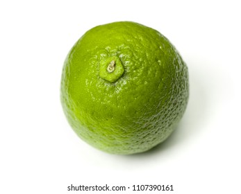Ripe lime isolated on white backround