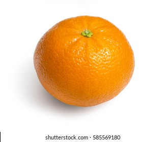 Ripe mandarin citrus isolated tangerine mandarine orange on white background.with clipping path
