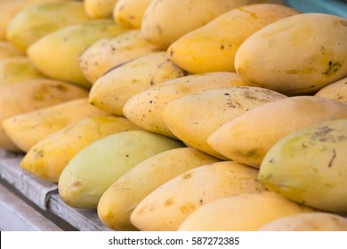 lot of ripe mango on the counter