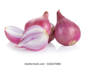 ripe onions isolated on a white background