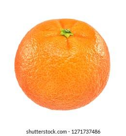 Ripe orange mandarin or clementine isolated on white background