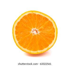 ripe oranges on a white background