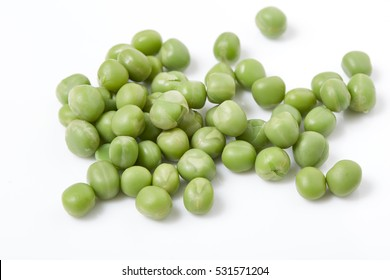 Ripe pea vegetable Isolated on white background