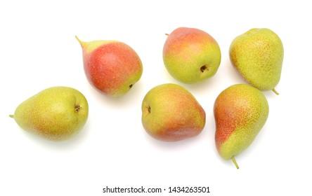 Ripe pear fruit isolated on white background