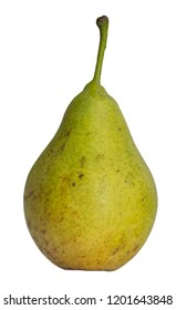 A ripe pear on white background.