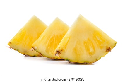 ripe pineapple on a white background