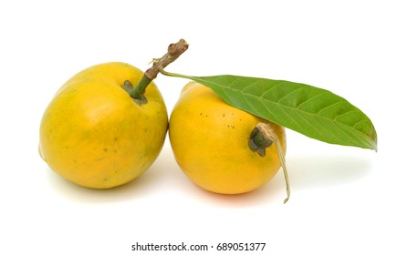 ripe Pouteria campechiana Fruits on white background
