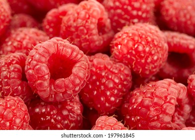 Ripe raspberries background