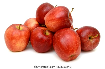 Ripe red apple Isolated on white background