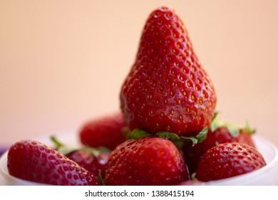 ripe strawberries isolated on neutral background