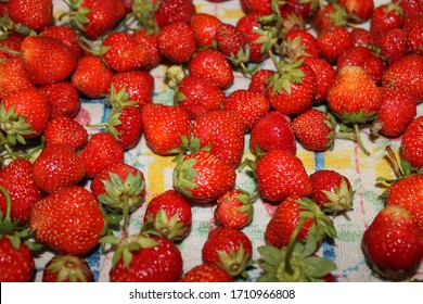 ripe strawberries ready to eat